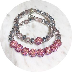 Jewelry - 2 Piece Austrian Crystal Beaded Bracelets